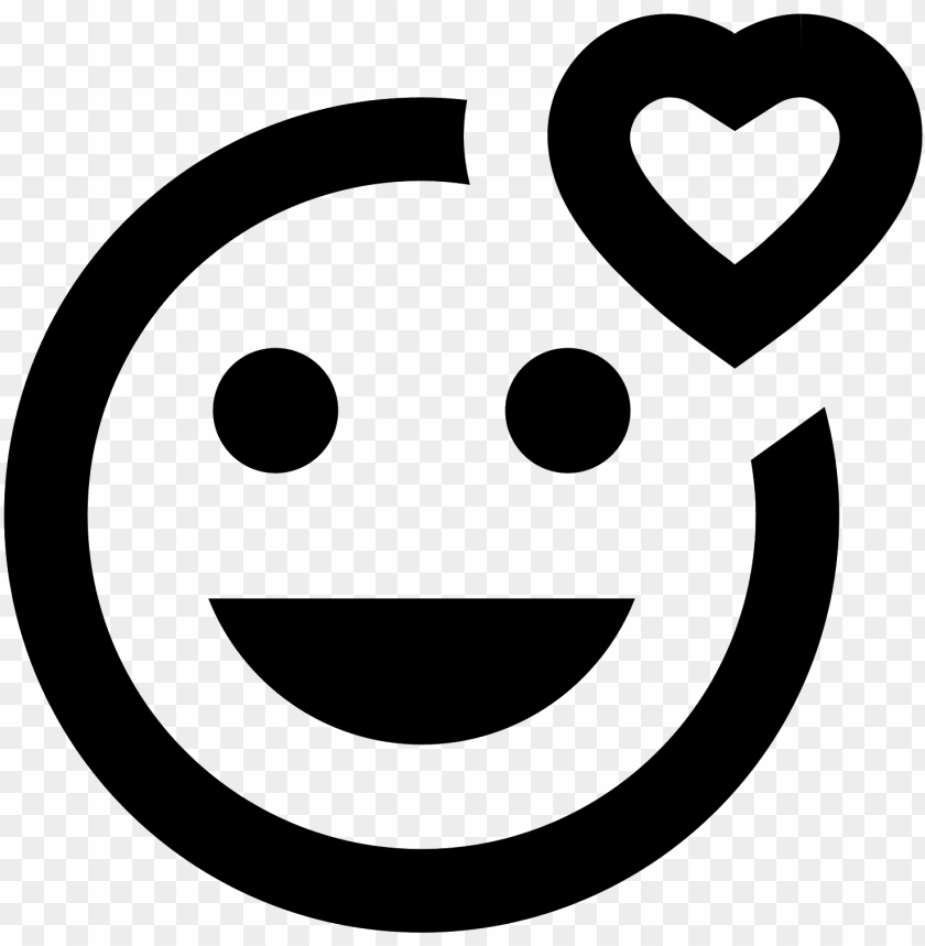 free PNG smiling face with heart icon - smiley material desi PNG image with transparent background PNG images transparent