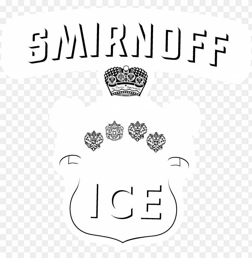 free PNG smirnoff ice logo black and white - illustratio PNG image with transparent background PNG images transparent