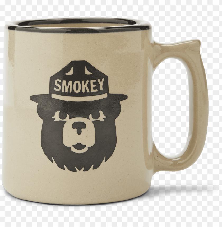 free PNG smokey bear stoneware mug filson png smokey the bear - filson smokey bear mu PNG image with transparent background PNG images transparent