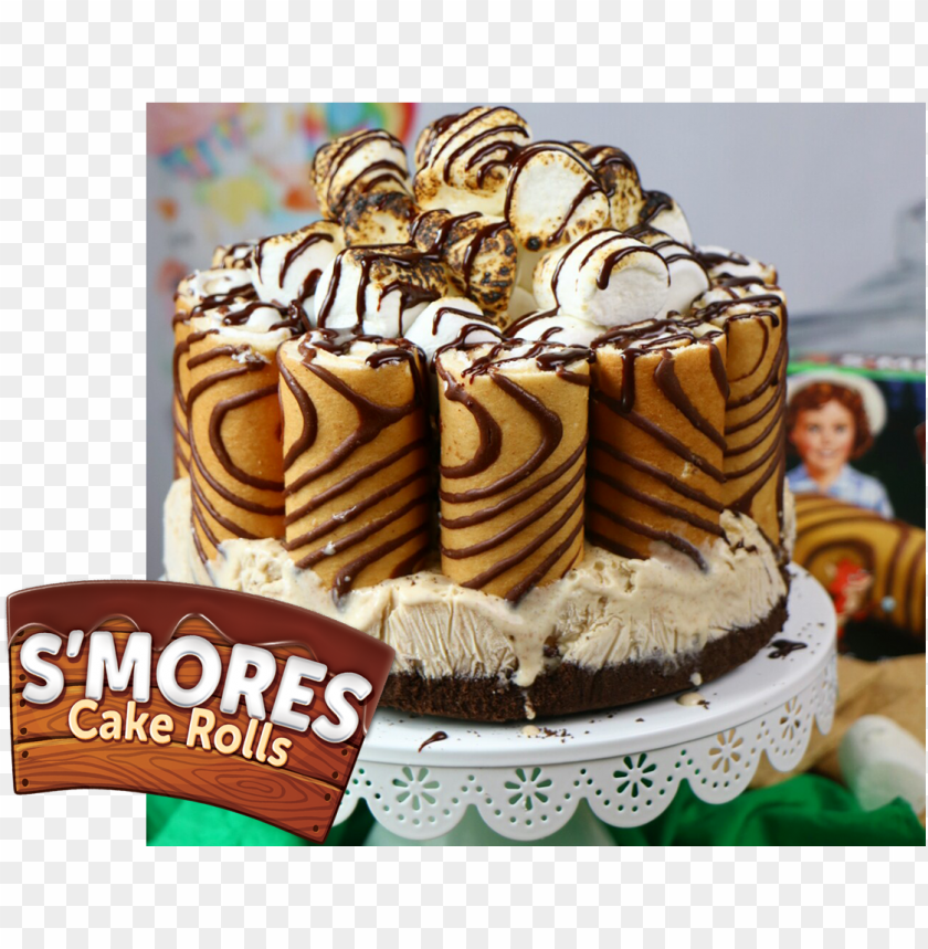 free PNG s'mores cake rolls ice box cake - chocolate cake PNG image with transparent background PNG images transparent
