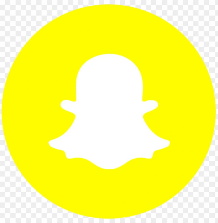 free PNG snapchat logo icon png - snapchat logo circle PNG image with transparent background PNG images transparent