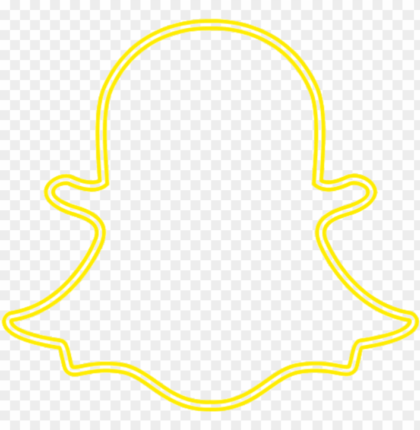 Snapchat Logo Neon Png Image With Transparent Background Toppng