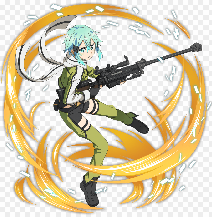 free PNG [sniper in love] sinon online s, gun gale online, online - sword art online memory defrag sino PNG image with transparent background PNG images transparent