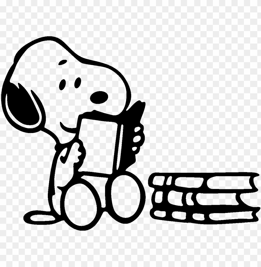 free PNG snoopy reading PNG image with transparent background PNG images transparent