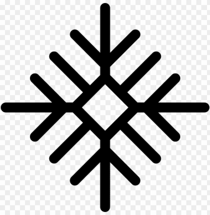 free PNG snowflake outline with diamond shape vector - snowflake line ico PNG image with transparent background PNG images transparent