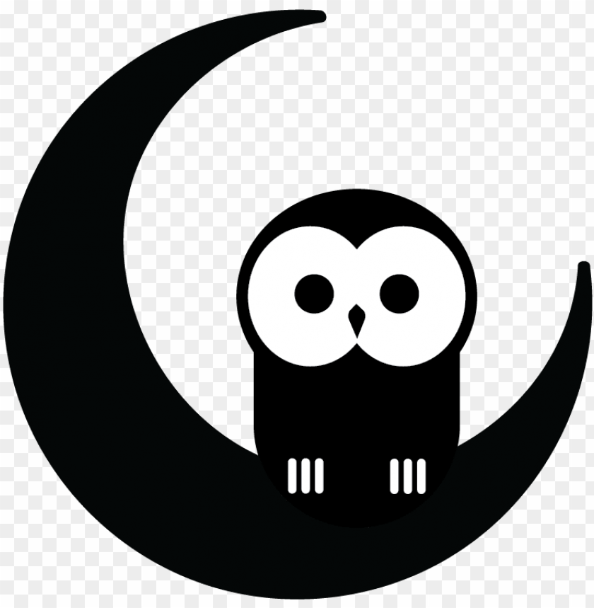 free PNG snowy owl clipart night owl - night owl black and white PNG image with transparent background PNG images transparent