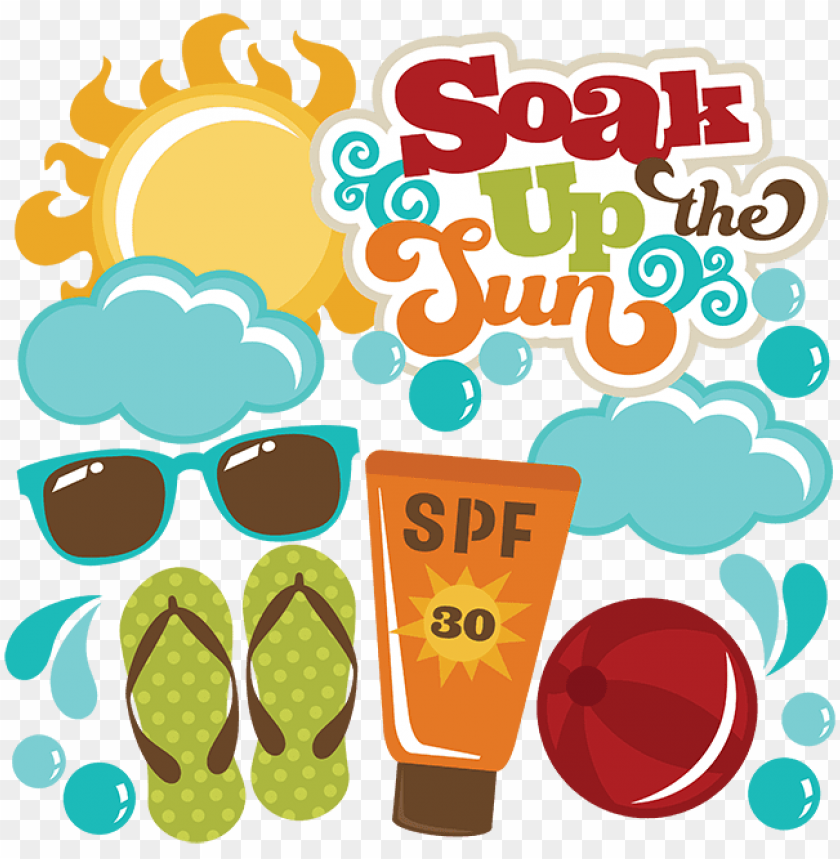 free PNG soak up the sun svg files for scrapbooking sun svg - miss kate cuttables pool party PNG image with transparent background PNG images transparent