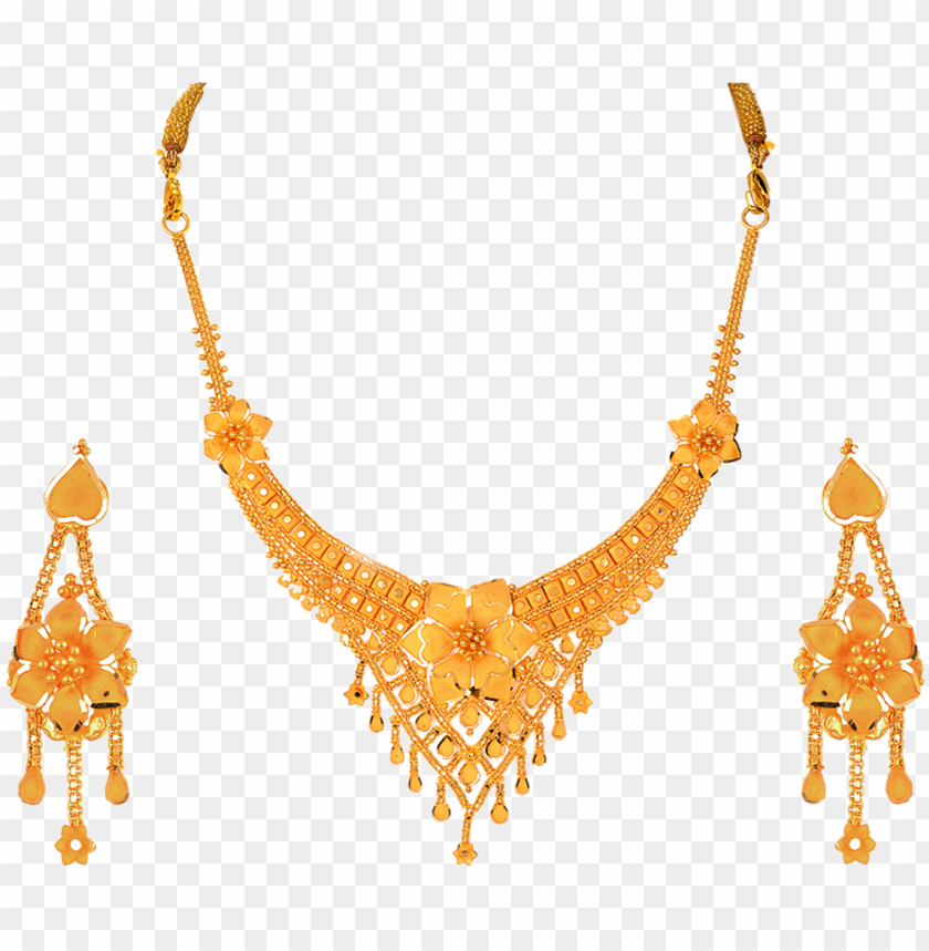 Sober Gold Necklace Set Ladies Gold Chain Png Image With Transparent Background Toppng