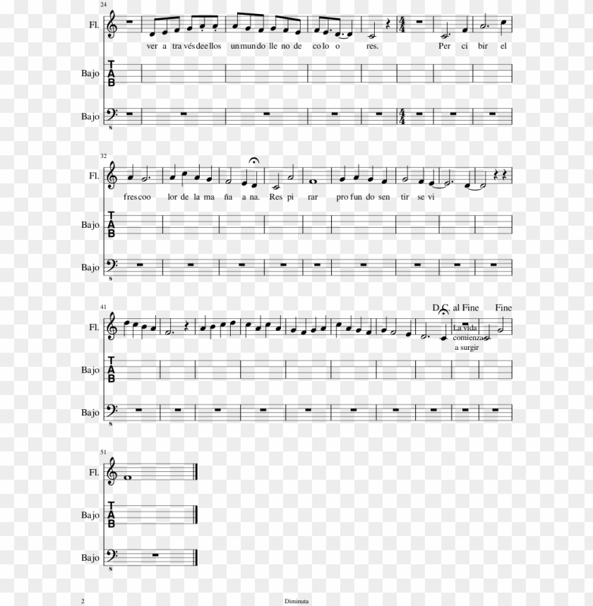 free PNG sobre la vida sheet music composed by diminuta 2 of - sheet music PNG image with transparent background PNG images transparent