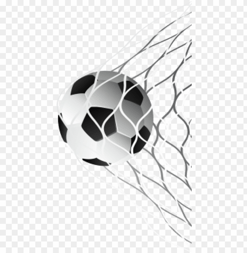 free PNG soccer ball in goal net vector, soccer, football, ball - soccer ball in net PNG image with transparent background PNG images transparent