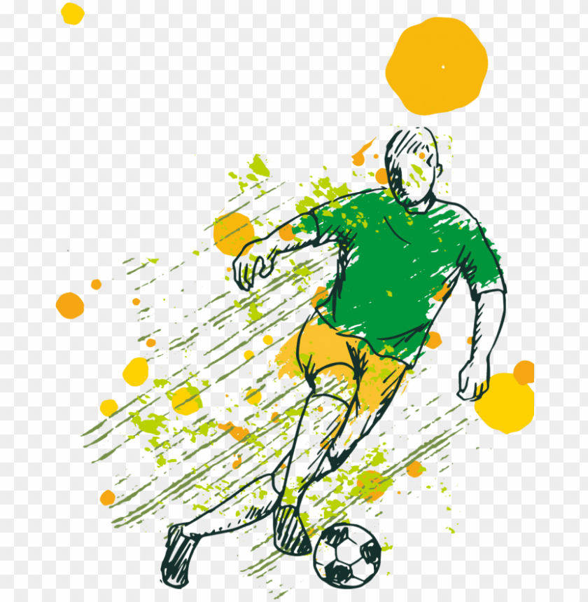free PNG soccer game background with player free vector - football PNG image with transparent background PNG images transparent