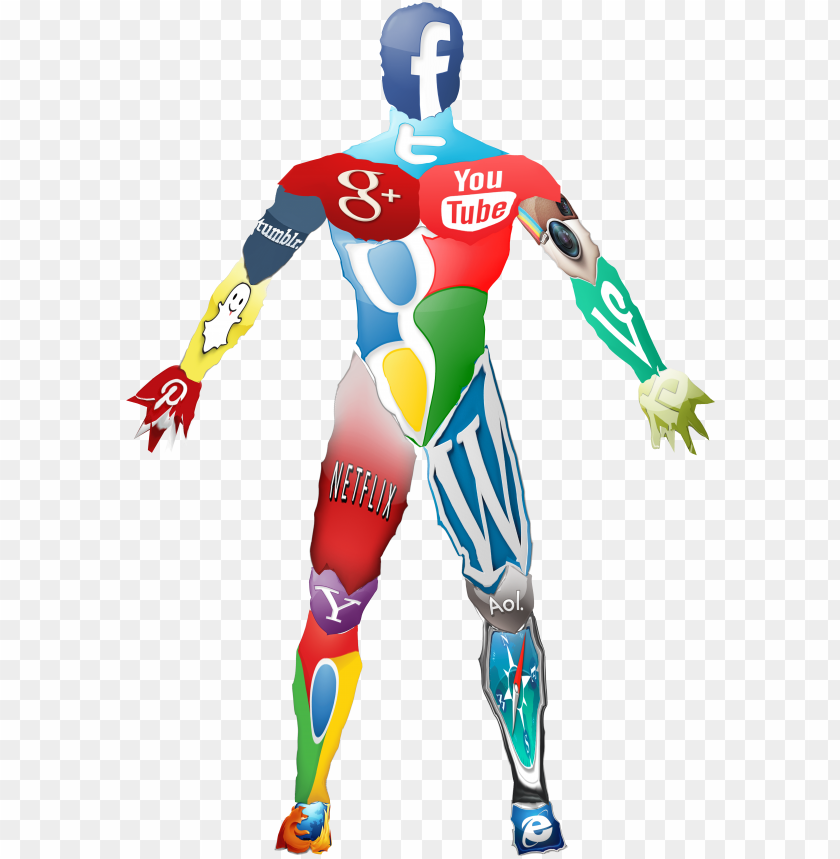 free PNG social media icon body collage - people using social media icon png - Free PNG Images PNG images transparent
