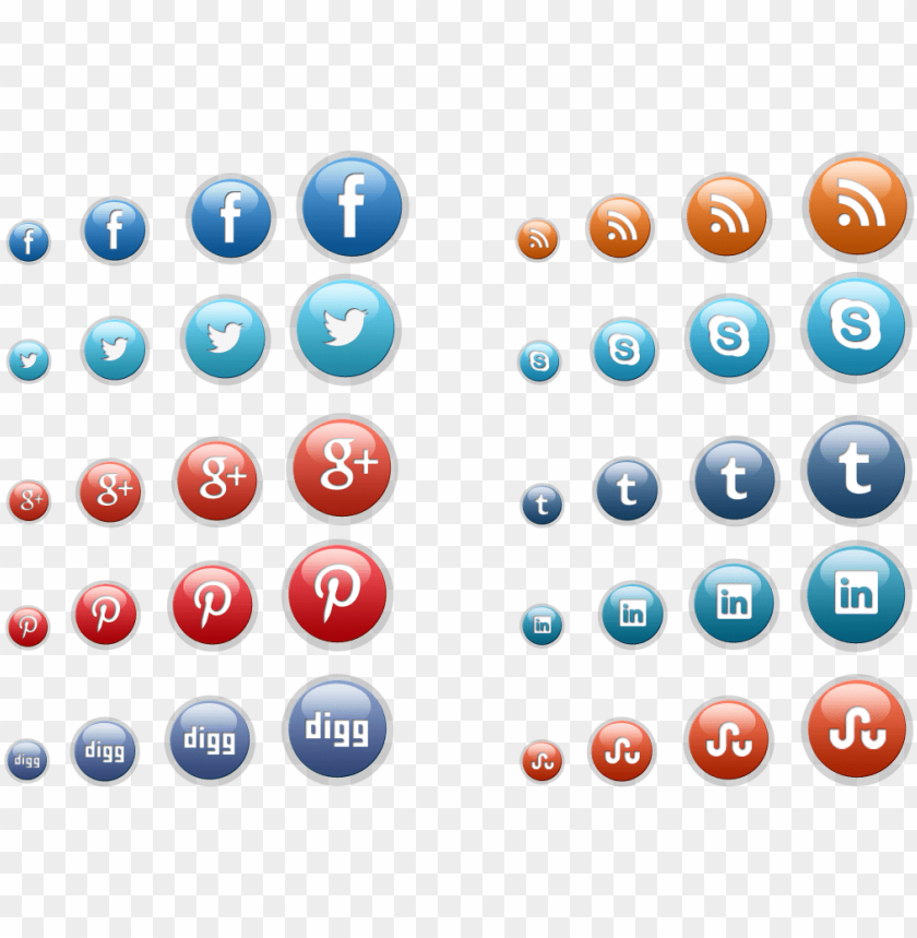 free PNG social media icon buttons - 3d icons  social media png - Free PNG Images PNG images transparent
