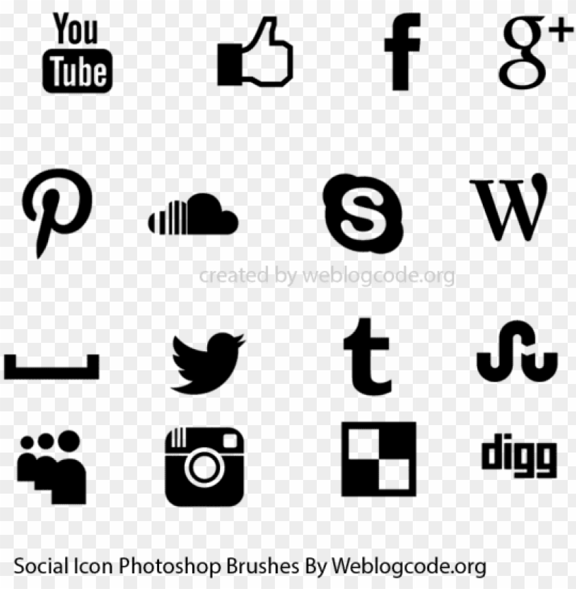 free PNG social media icons photoshop brushes - photoshop social media icon brush PNG image with transparent background PNG images transparent
