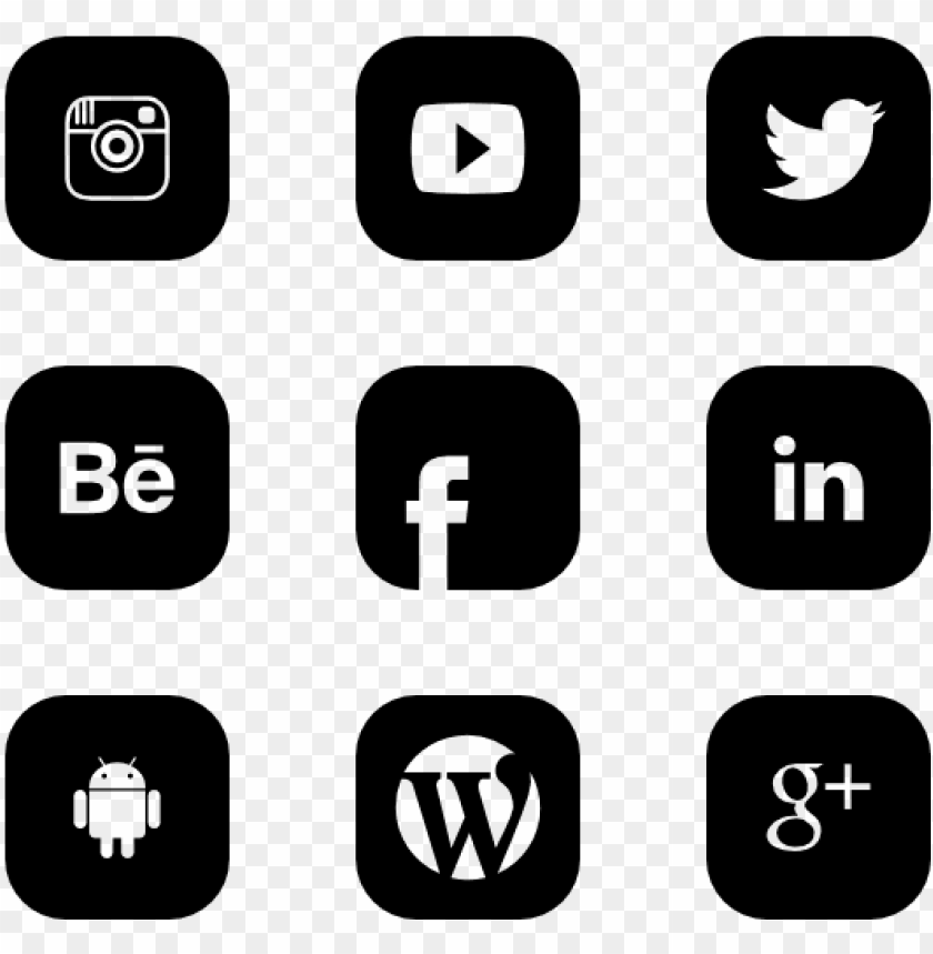 free PNG social media icons png vector - black social media logos PNG image with transparent background PNG images transparent