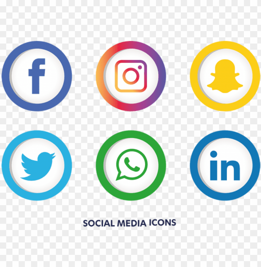 social media icons set, social, media, icon png and - facebook instagram whatsapp PNG image with transparent background@toppng.com