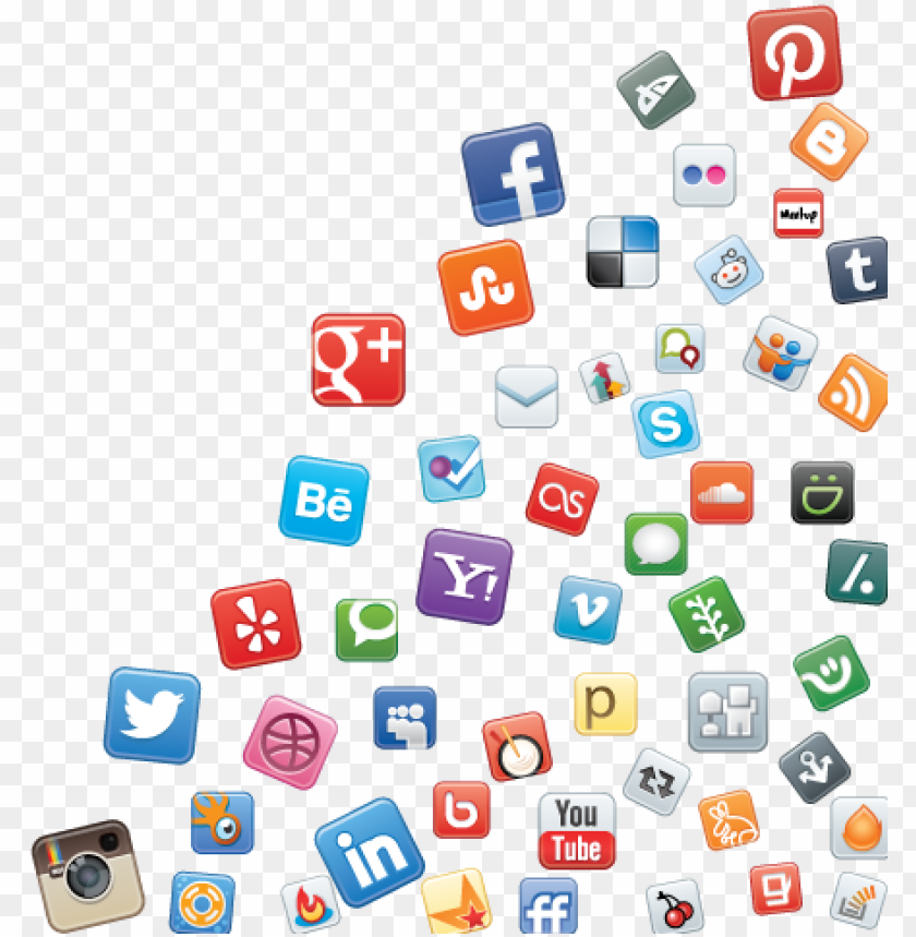 free PNG social media icons  transparent - all social media icons png - Free PNG Images PNG images transparent