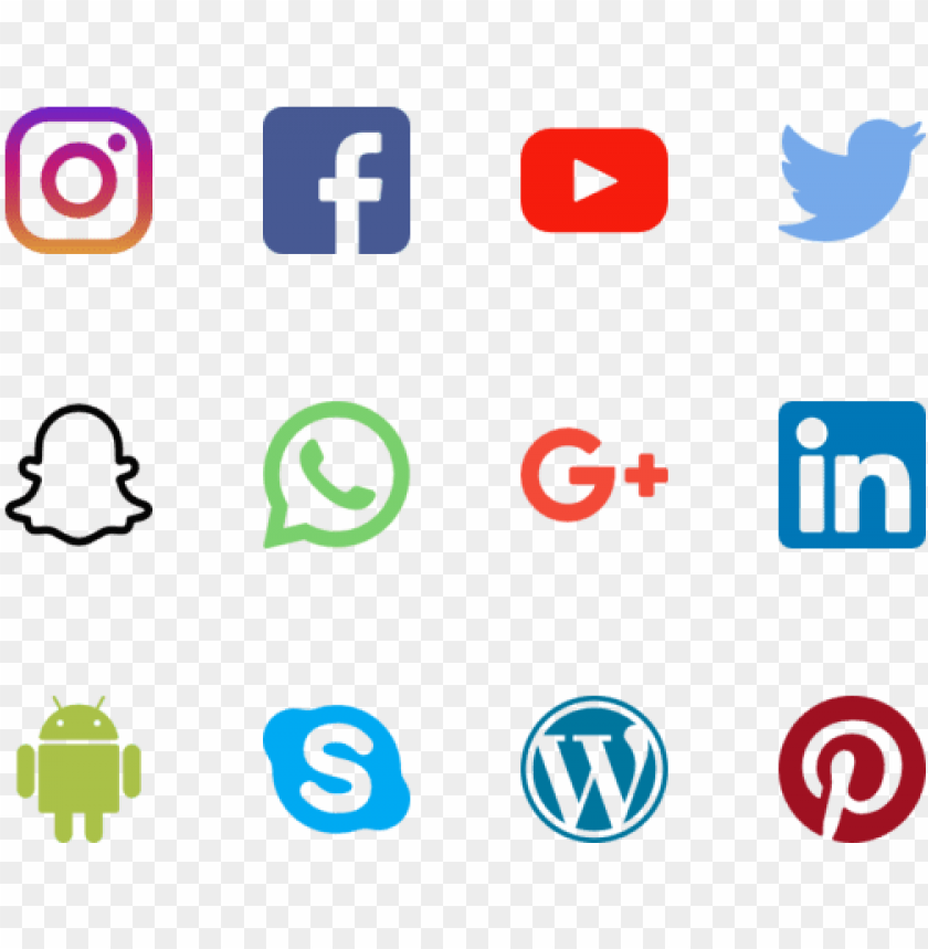 free PNG social media icons vector png - social media logos small PNG image with transparent background PNG images transparent