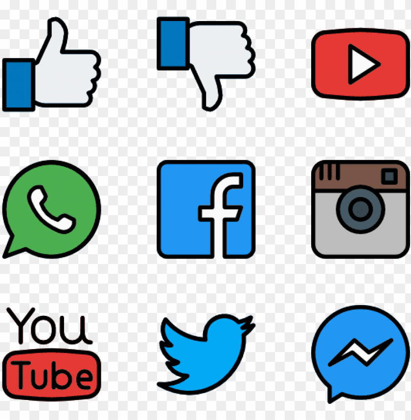 Social Media Icons Web Design Png Free Png Images Toppng