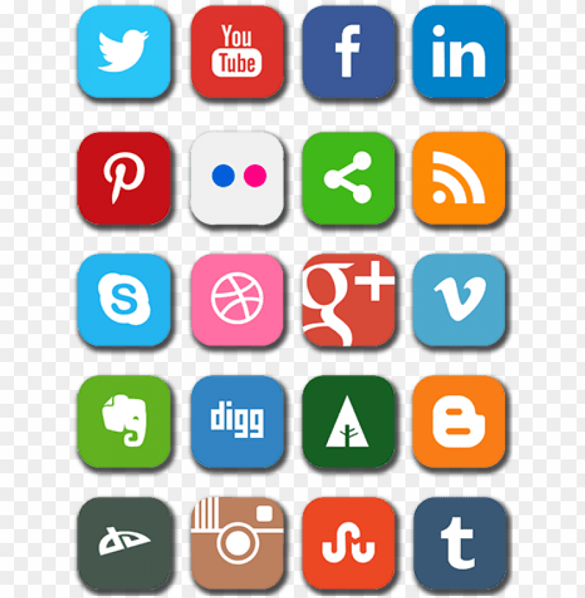 free PNG social media logos png no background brigi - social media logos vertical PNG image with transparent background PNG images transparent