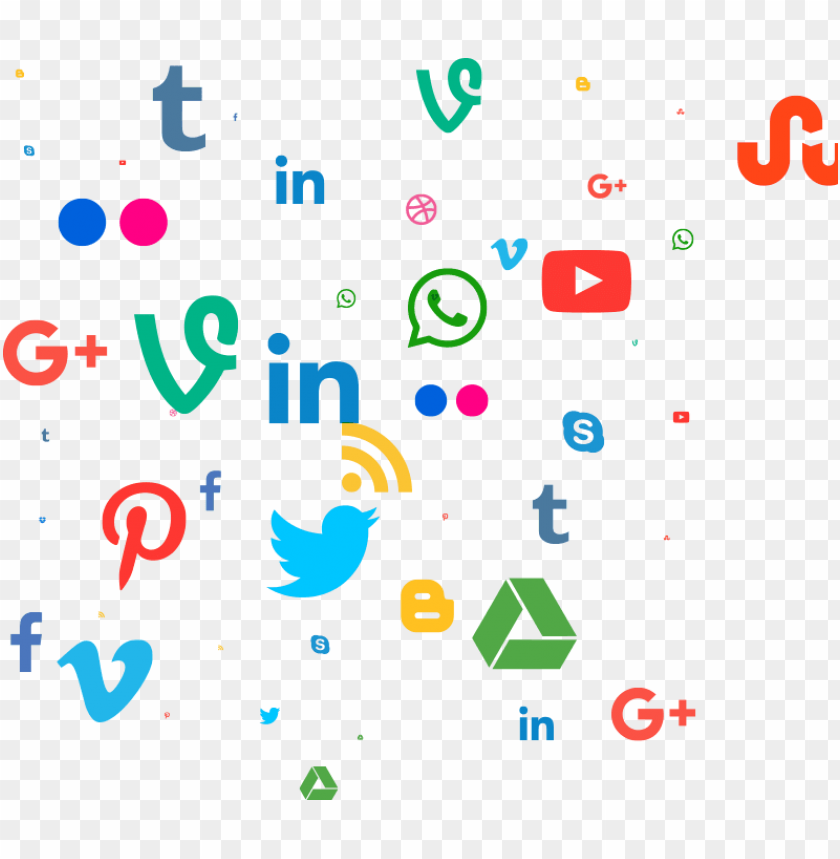 social media marketing - social media pattern PNG image with transparent background@toppng.com