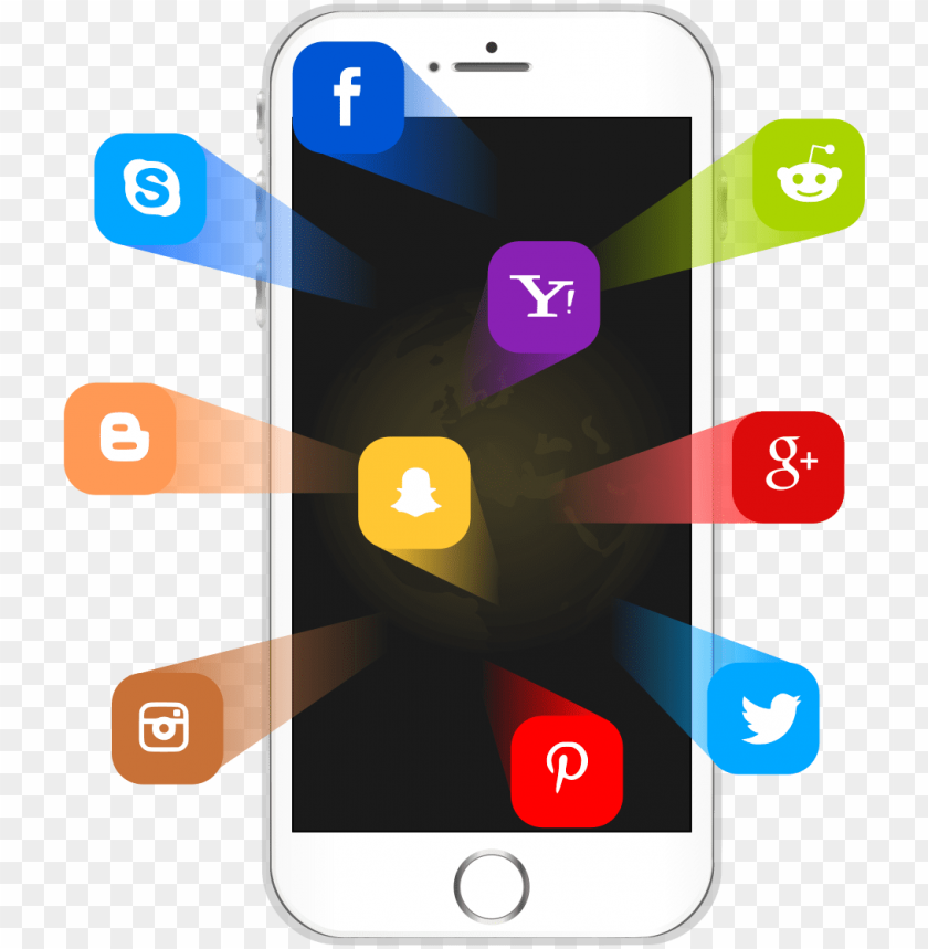 free PNG social media on iphone - iphone social media PNG image with transparent background PNG images transparent