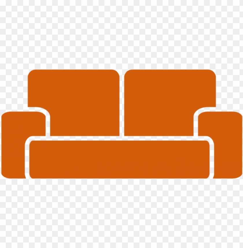 free PNG sofa icon orange - sofa icon png - Free PNG Images PNG images transparent