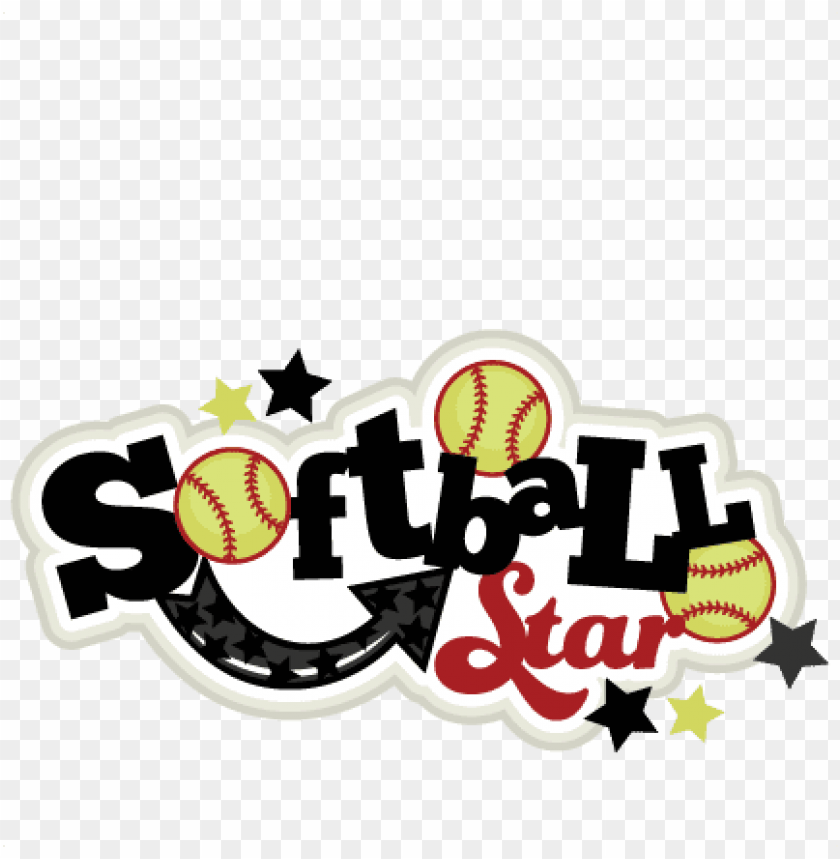 free PNG softball star svg scrapbook titlesoftballl svg title - softball star sv PNG image with transparent background PNG images transparent
