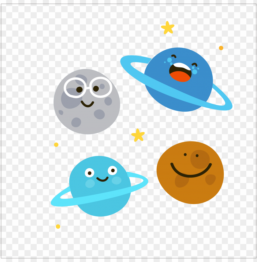 free PNG solar system planet cartoon illustration - solar system planets cartoon PNG image with transparent background PNG images transparent