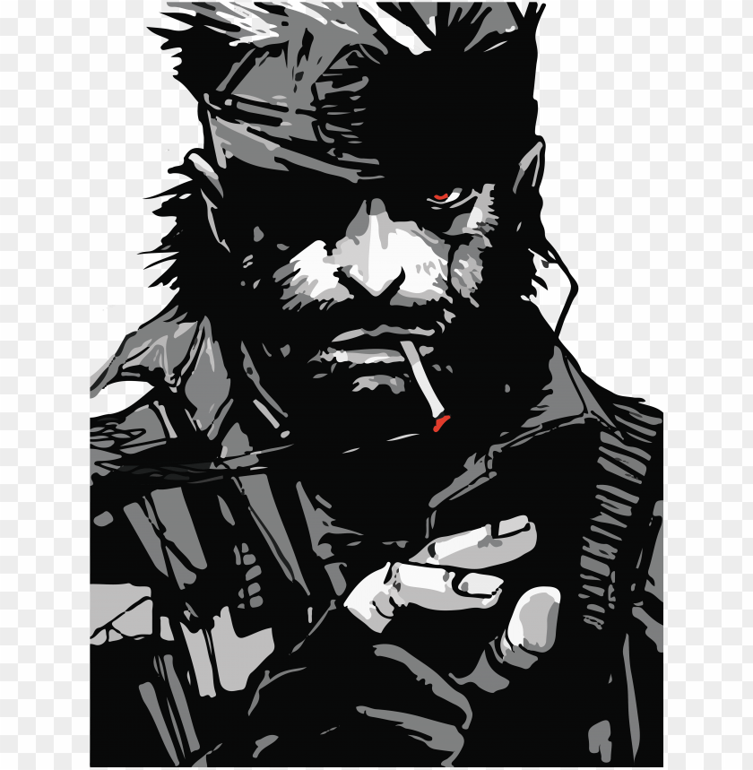 Solid Snake 2 72 01 Metal Gear Solid Big Boss Art Png