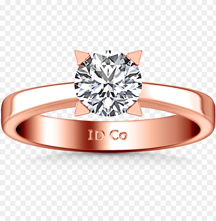 free PNG solitaire engagement ring icon 14k rose gold - solitaire diamond engagement ring icon 14k rose gold png - Free PNG Images PNG images transparent