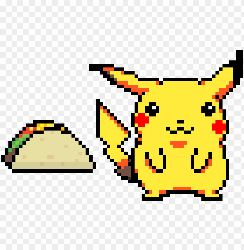 Someones Been Eating Too Many Tacos Pikachu Pixel Art Png