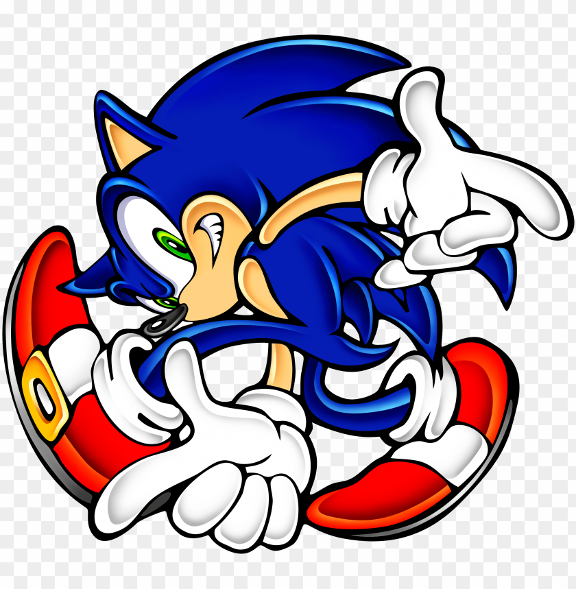 Sonic Adventure Png Sonic The Hedgehog Adventure Pose Png Image With Transparent Background Toppng