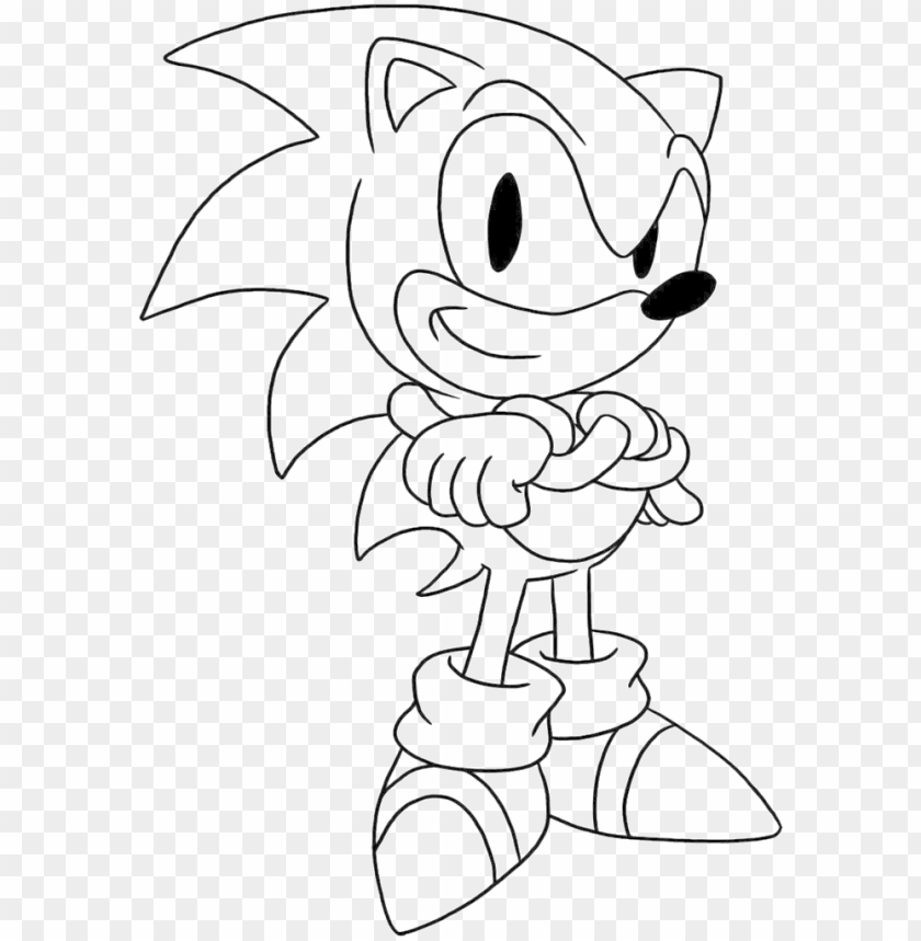 Sonic Is Being Issued A Thumbs Up The Hand Coloring Sonic Coloring Book Pages Png Image With Transparent Background Toppng