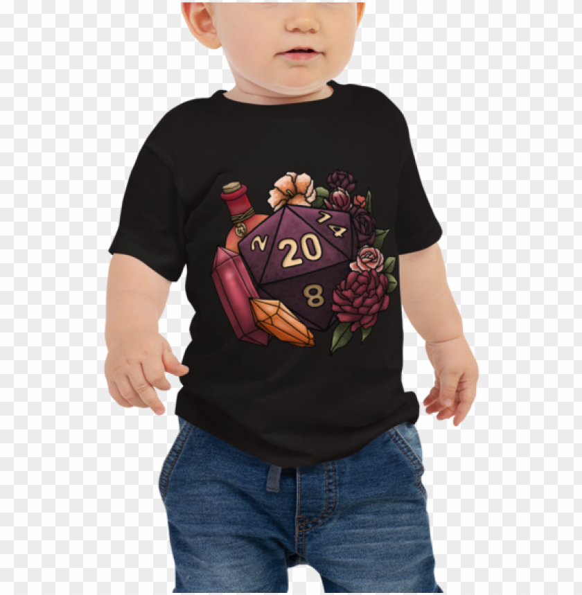free PNG sorcerer d20 baby jersey short sleeve tee - t-shirt PNG image with transparent background PNG images transparent