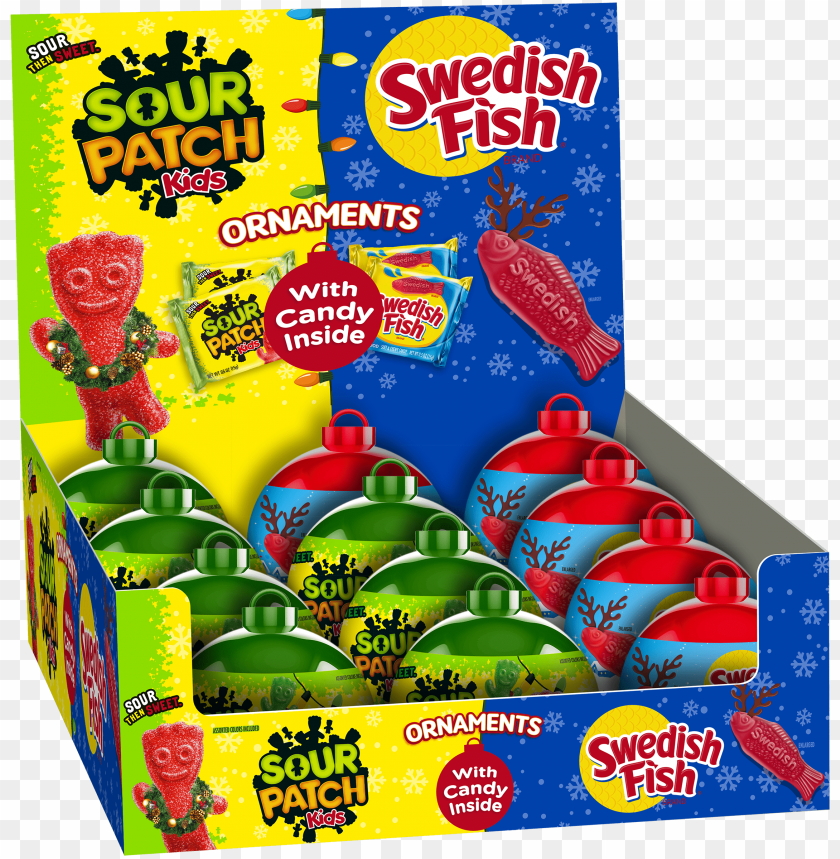 free PNG sour patch kids/swedish fish mixed ornament tray 12ct PNG image with transparent background PNG images transparent