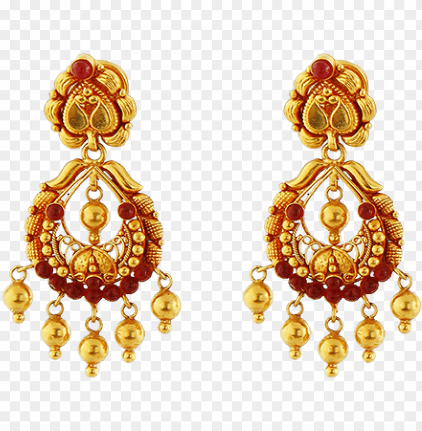 South Indian Gold Jewellery Designs With Price Grt Jewellery Earrings Collections Png Image With Transparent Background Toppng