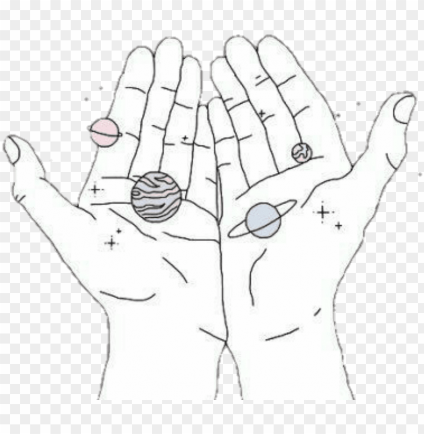 free PNG space hands planets aesthetic tumblr png aesthetic - aesthetic tumblr space art PNG image with transparent background PNG images transparent