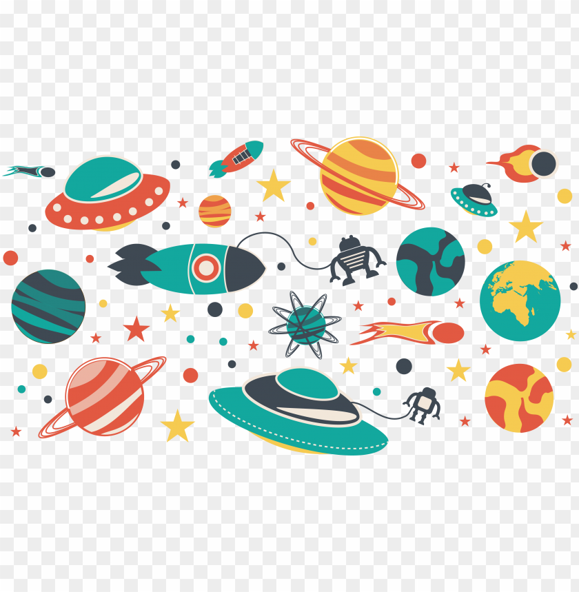 free PNG Download Space universe flat material png images background PNG images transparent