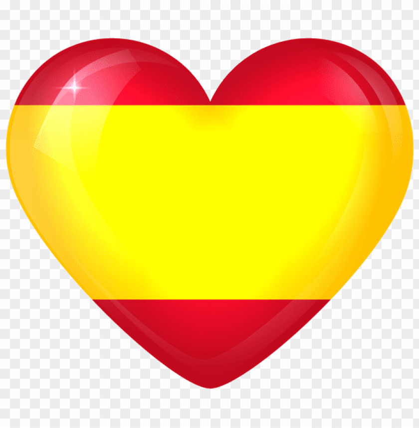 free PNG Download spain large heart flag clipart png photo   PNG images transparent