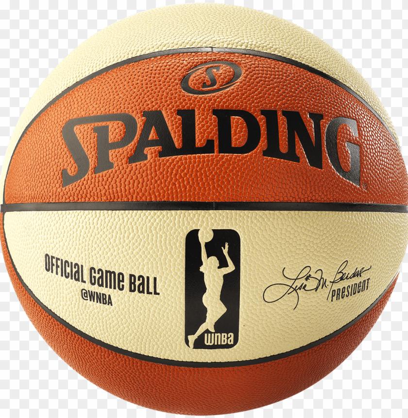 free PNG spalding wnba official composite basketball - spalding wnba official game basketball PNG image with transparent background PNG images transparent