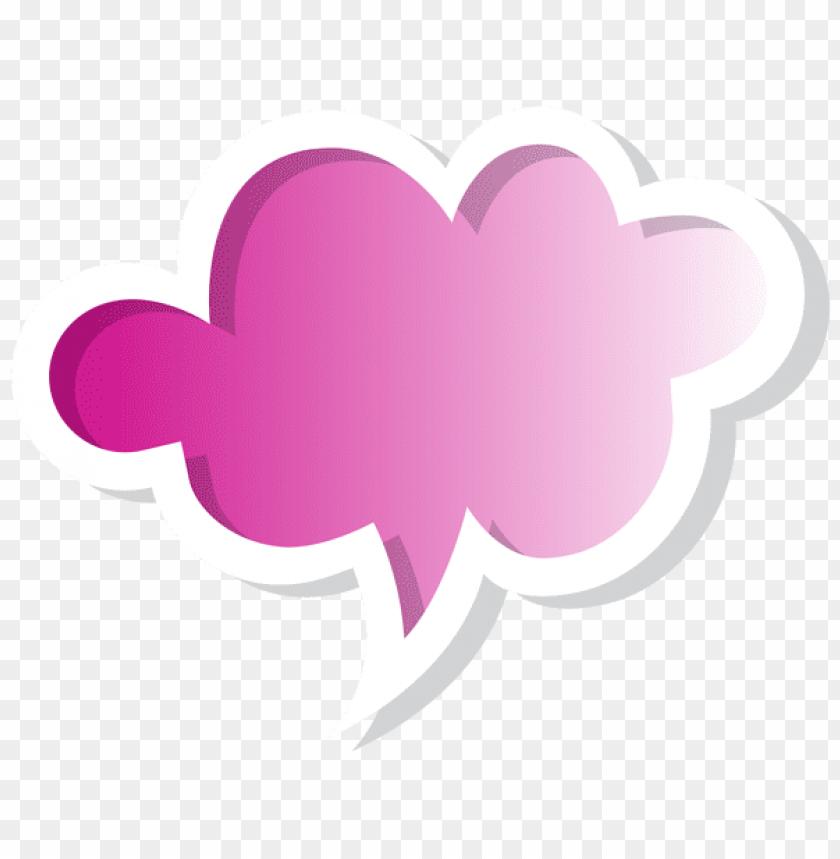 free PNG Download speech bubble cloud pink clipart png photo   PNG images transparent
