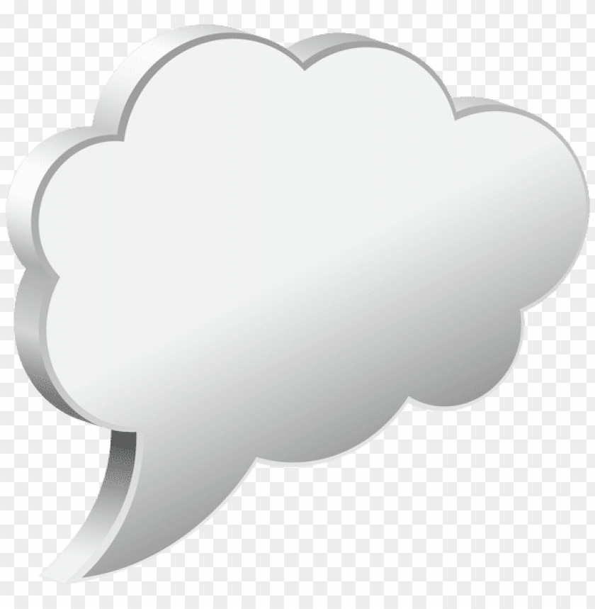Download speech bubble cloud white clipart png photo  @toppng.com