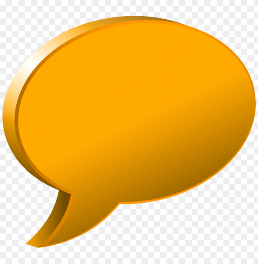 Download speech bubble orange clipart png photo  @toppng.com