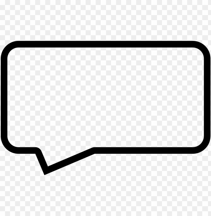 free PNG speech bubble outline - speech balloo PNG image with transparent background PNG images transparent