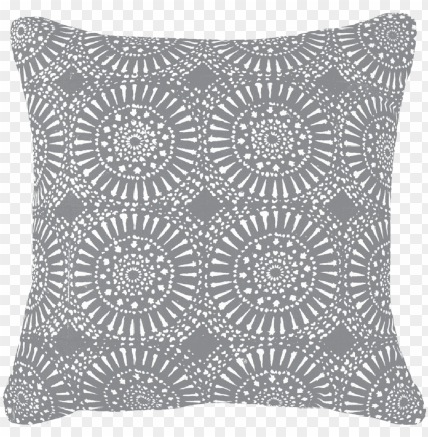 free PNG sphere print dark grey lounge cushion 55 x 55 cm - sphere print black cushio PNG image with transparent background PNG images transparent