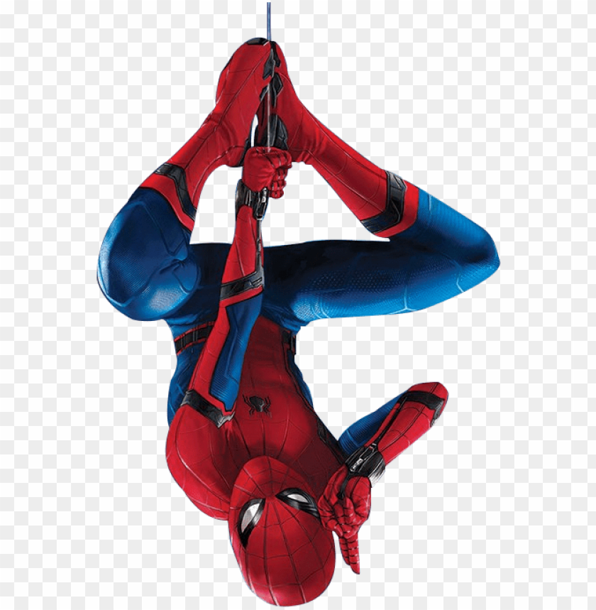 Spider Man Homecoming By Spiderman Hanging Upside Dow Png Image With Transparent Background Toppng