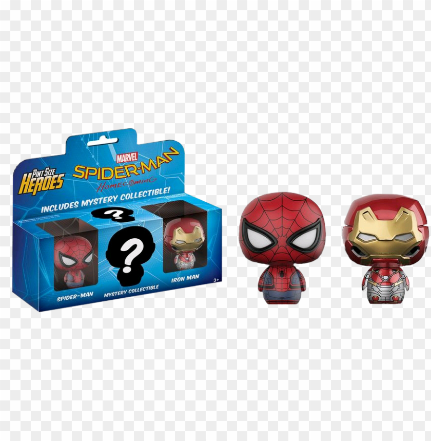 free PNG spider man, iron man and msytery pint size heroes 3 - spider man homecoming pint size heroes PNG image with transparent background PNG images transparent
