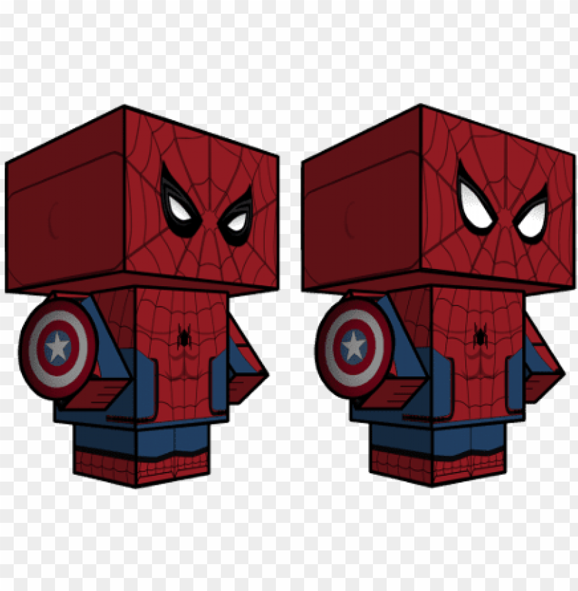 free PNG spiderman captain america civil war paper toy - papercraft spiderman homecomi PNG image with transparent background PNG images transparent