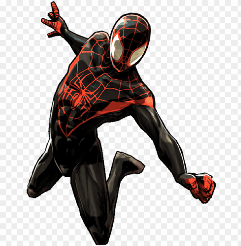 Spiderman Comic Png Spider Man Into The Spider Verse Art Png Image With Transparent Background Toppng